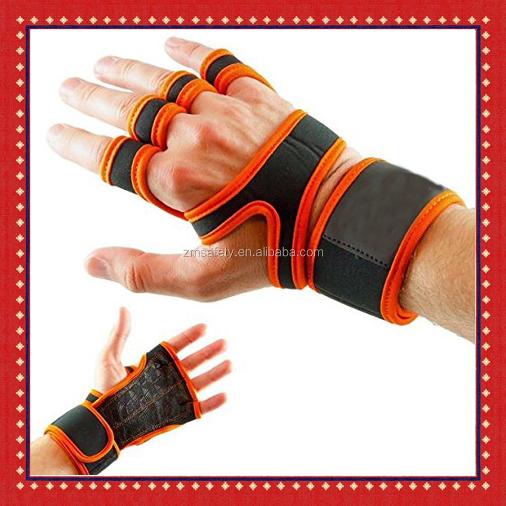 Padded Grip Wrist Support Workout Gloves Yoga Pilates Weight Lifting Fitness WOD Cross Training Crossfit Gym