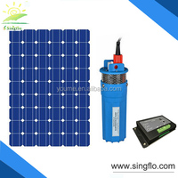 Singflo 4'' 24V 6LPM DC 24V Submersible Deep Well Water Pump Solar Battery System for Pool Watering