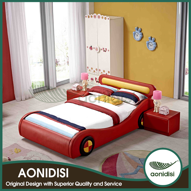 kinder cartoon auto bett rot dse0003 kinderbett produkt id 1426264370. Black Bedroom Furniture Sets. Home Design Ideas