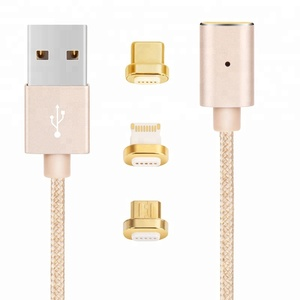3 in 1 Magnetic Cell Phone USB-C USB 3.0 Micro Magnet Charger Cable