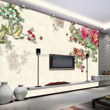 factory price charming chinese rose 3d wallpaper wall mural