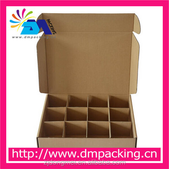 corrugated carton box with dividers