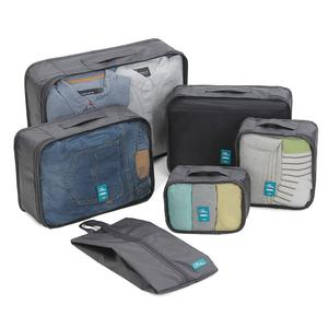 P.travel 6 Sets Printed Travel Zipper Clothes Package Storage Bag