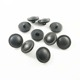 Garment accessories shank plastic black leather coat buttons