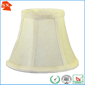 Popular bell faux silk fabric clip on bulb lamp shade for chandelier lamp