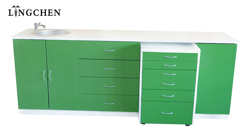 Modern Design Dental Clinic Furniture Green Color Multi-functional ...