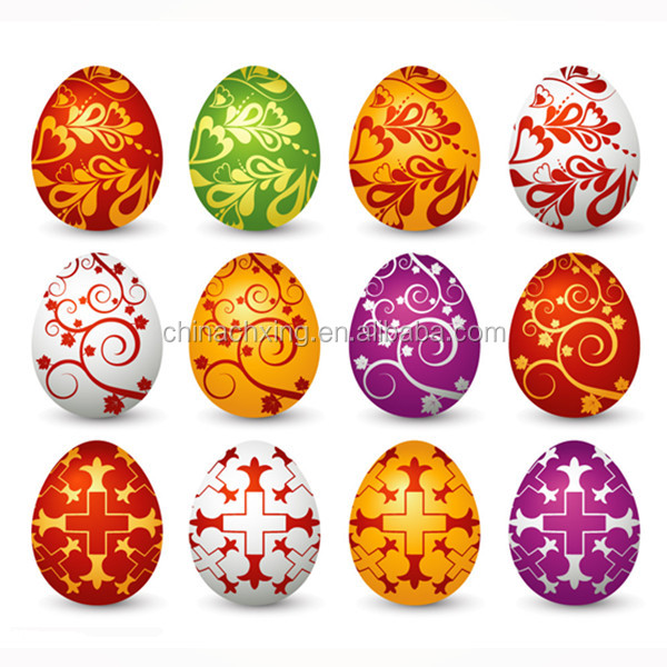 Different colors and designs large plastic easter eggs for sale