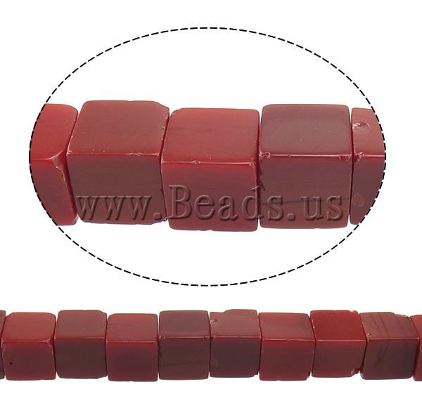 Free shipping!!!Jade Beads,Hot Selling, Jade Red, Cube, natural, 10x10x10mm, Hole:Approx 1.5mm, Length:Approx 15 Inch