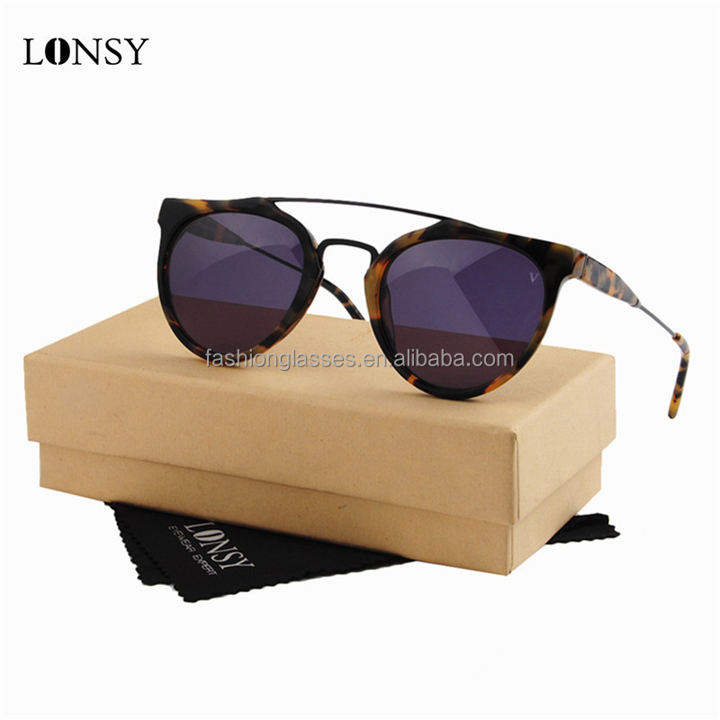 LS7021-C1 italy design high quality acetate frame material cat 3 uv400 polarized sunglasses