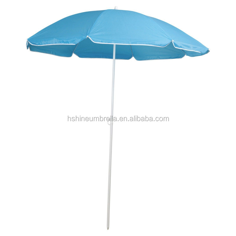 "36"" outdoor simple sun shade 100% polyester beach parasol"