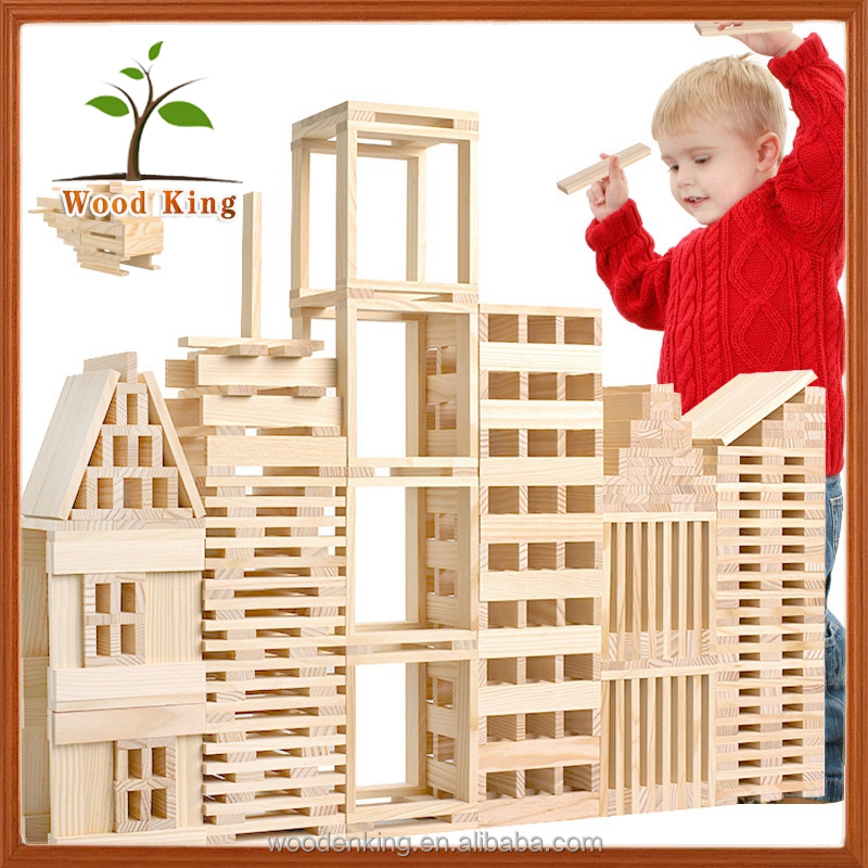100 Pieces Architecture Model Children'S Intelligence Puzzle Tower Lele Wooden Toy Blocks Building Sticks Toy