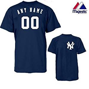 c1b5ba80 Get Quotations · New York Yankees Personalized Custom (Add Name & Number)  100% Cotton T-