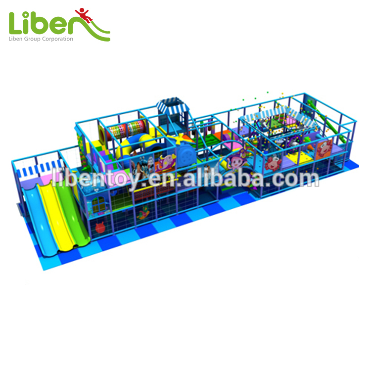 China Liben Children Soft Indoor Play Area with Triple Slide LE.T1.503.172.00