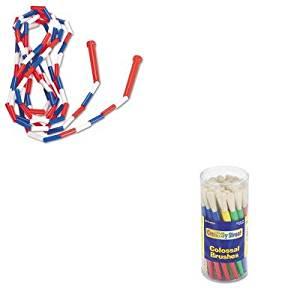 KITCKC5160CSIPR16 - Value Kit - Creativity Street Colossal Brush Set (CKC5160) and Champion Sport Segmented Plastic Jump Rope (CSIPR16)