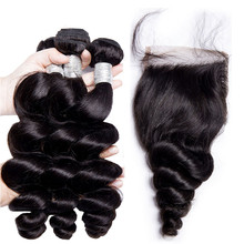 Brazilian Virgin Hair Loose Wave Bundles 100% Real Human Hair Extension Natural Color Remy Hair Weave Bundles