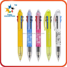 Promotion 10 In 1 Cartoon Multicolor Plastic Ball Pen