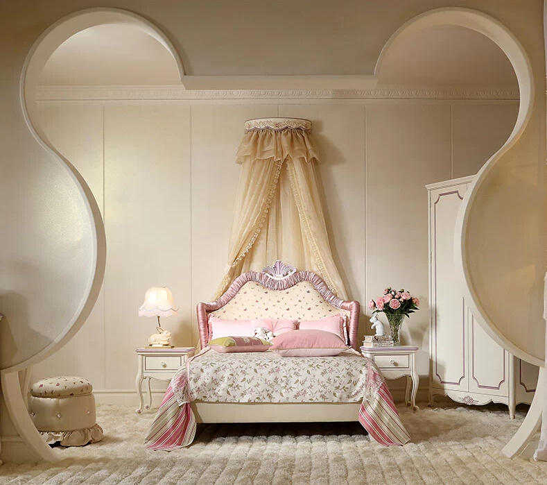 Kids Bedroom 2014 french style prince and princess child bed,2014 new design of kids