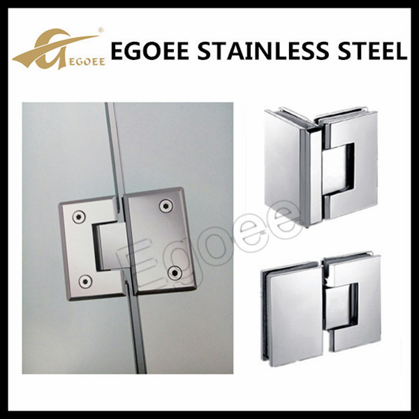 Top quality stainless shower glass cl& glass door patch fitting