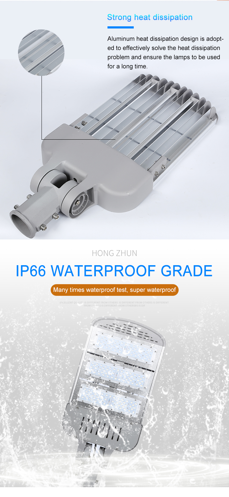 High quality outdoor IP66 waterproof smd Aluminum 150w led road lamp