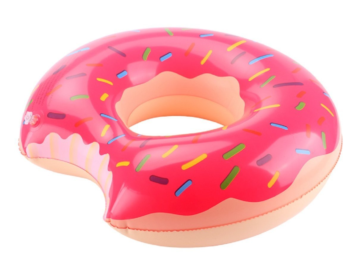 riffspheres gigantic donut pool float raft red summer giant inflatable donut pool floats tube with frosting perfect christmas