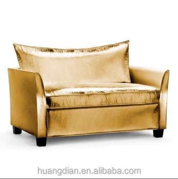 Gold Modern Sofa Bed Bedroom Furniture Karachi Custom