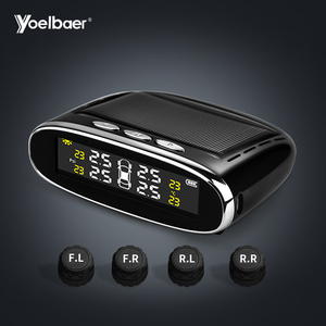 Yoelbaer Solar Energy Motorcycle Auto Tire Gauges LED Color Car TPMS