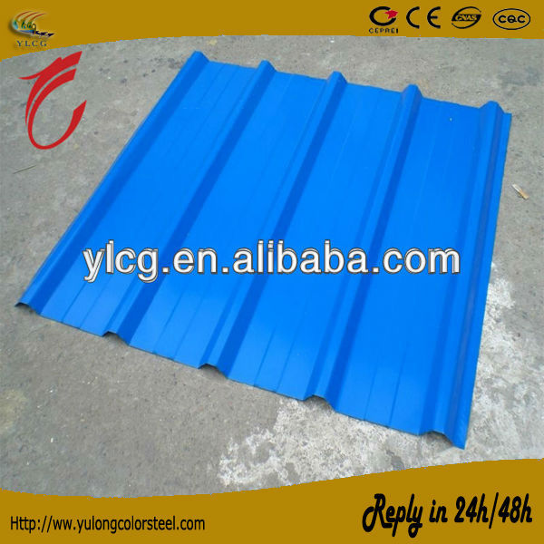 color coated galvanized corrugated steel sheet