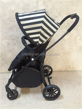 steel special shape steel frame material baby stroller with deluxe footrest