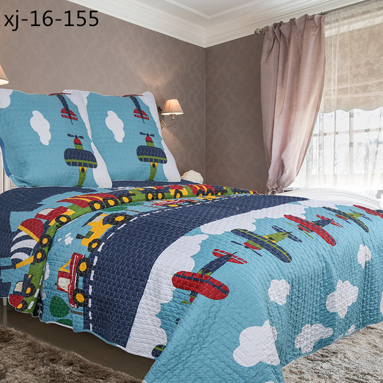 Modern style good offer patchwork home textile children bedding set