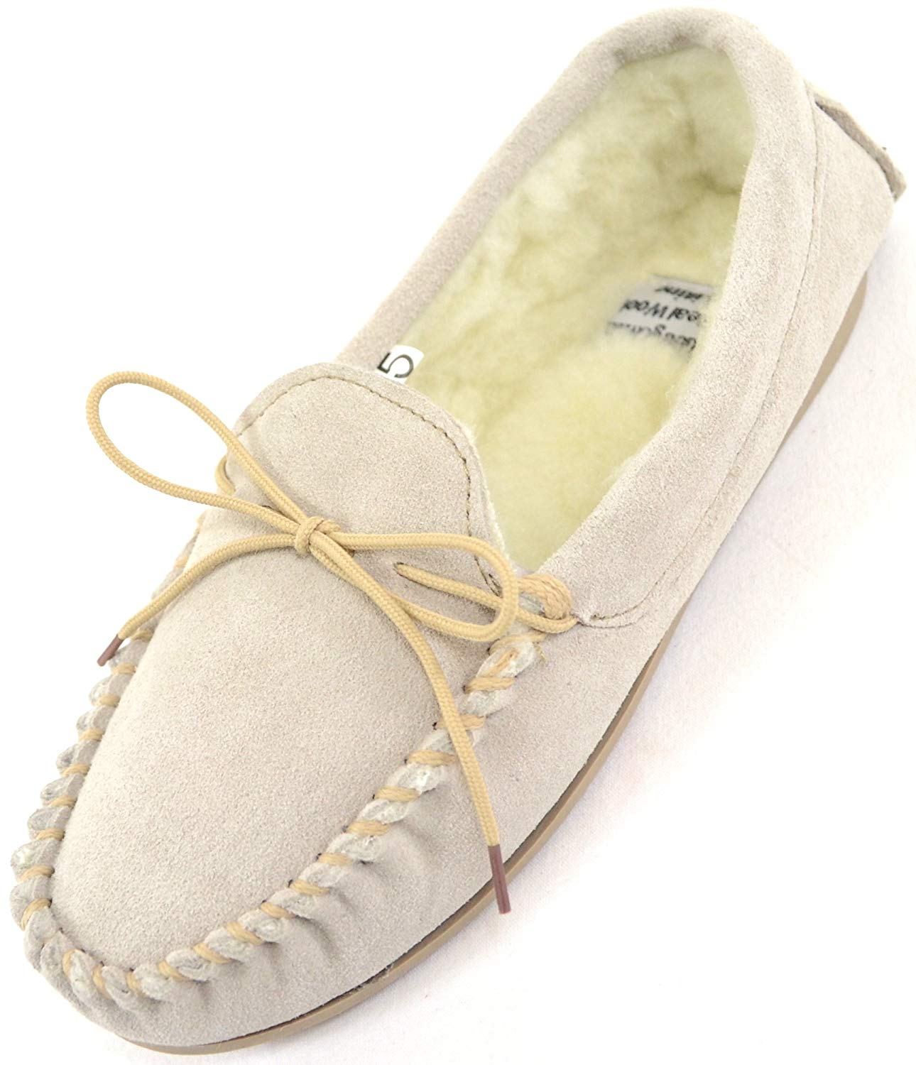 975b2b331ef Get Quotations · SNUGRUGS Ladies Womens Genuine Suede Leather Moccasin  Slippers With Warm Wool Lining