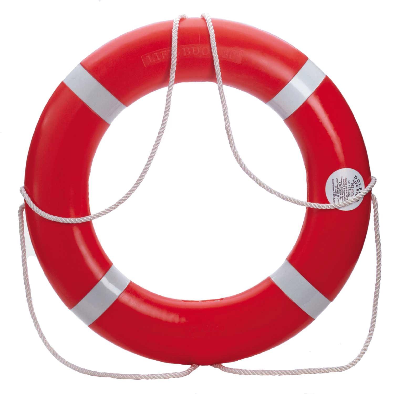 "Dock Edge 56-203-F, Dolphin Life Ring Buoy S.O.L.A.S. 30"", Orange USA 1/Case"