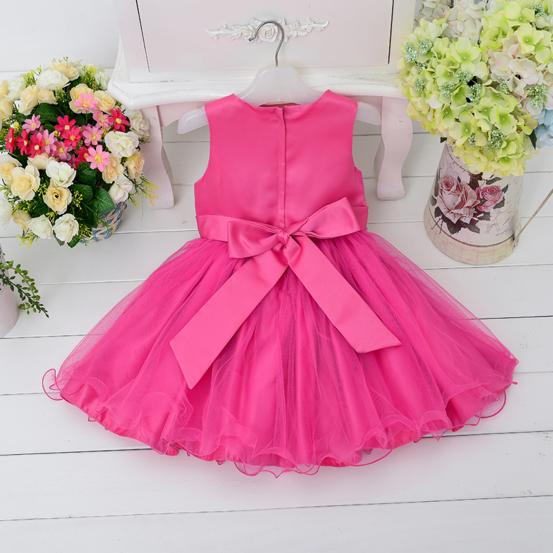Royal embroidered children gown handmade wedding party dress newborn girls dresses L15100