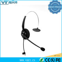 corded phones callcenter headsets with mirror decoration surface