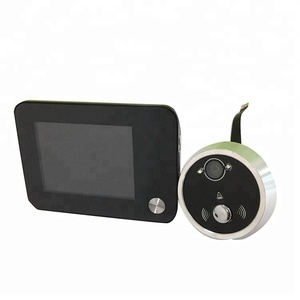 Apartment Front Door Peephole Door Eye Camera with Recorder Night Vision