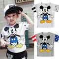 Cute Cartoon Loverly Kids Boys Girls Casual Short Sleeve Tops shirt 2 7Y