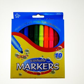 10colors fine tip watercolor marker set for school use