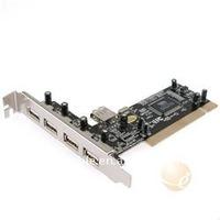 PCI USB 2.0 Controller Card 4+1 Ports