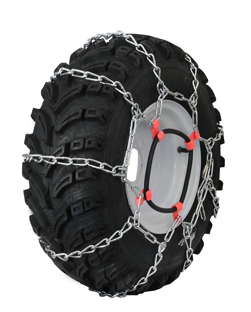Grizzlar GTU-411 Garden Tractor 4 Link Ladder Alloy Tire Chains Tensioner included 20x7-12 20x8.00-10 20x8.00-8 20x9.00-8