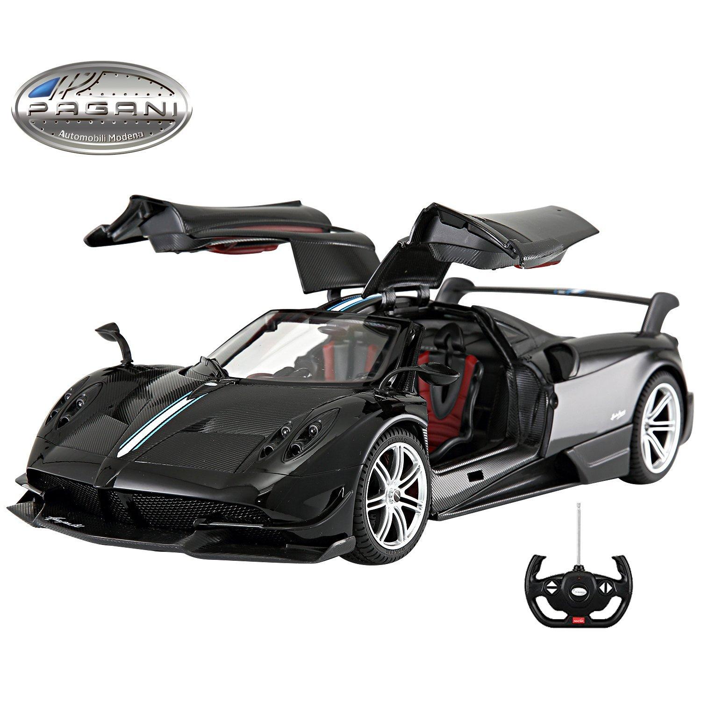 Licensed RC Car 1:14 Scale Pagani Huayra BC | Rastar Radio Remote Control 1/14 RTR Super Sport Car Model w/Open Doors (Black)