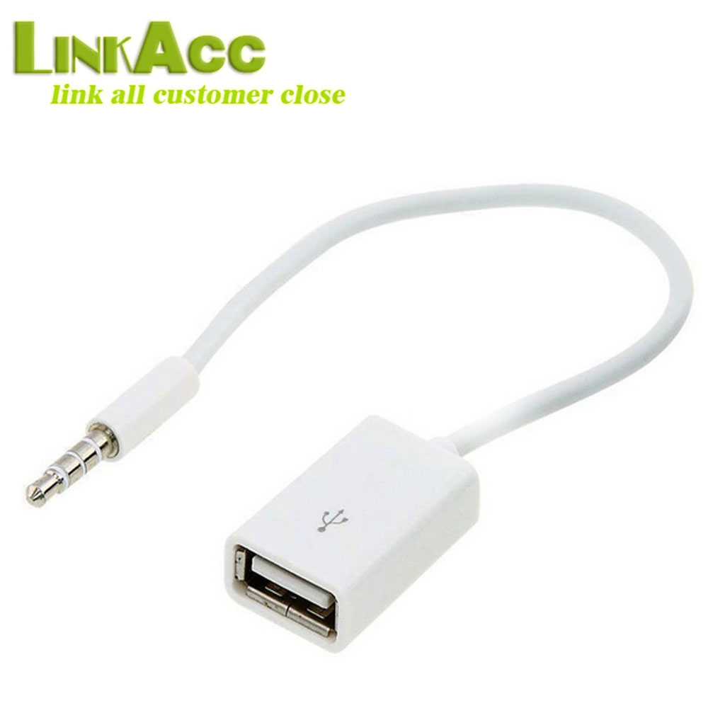 3.5mm Male Audio AUX Jack to USB 2.0 Type A Female OTG Converter Cable