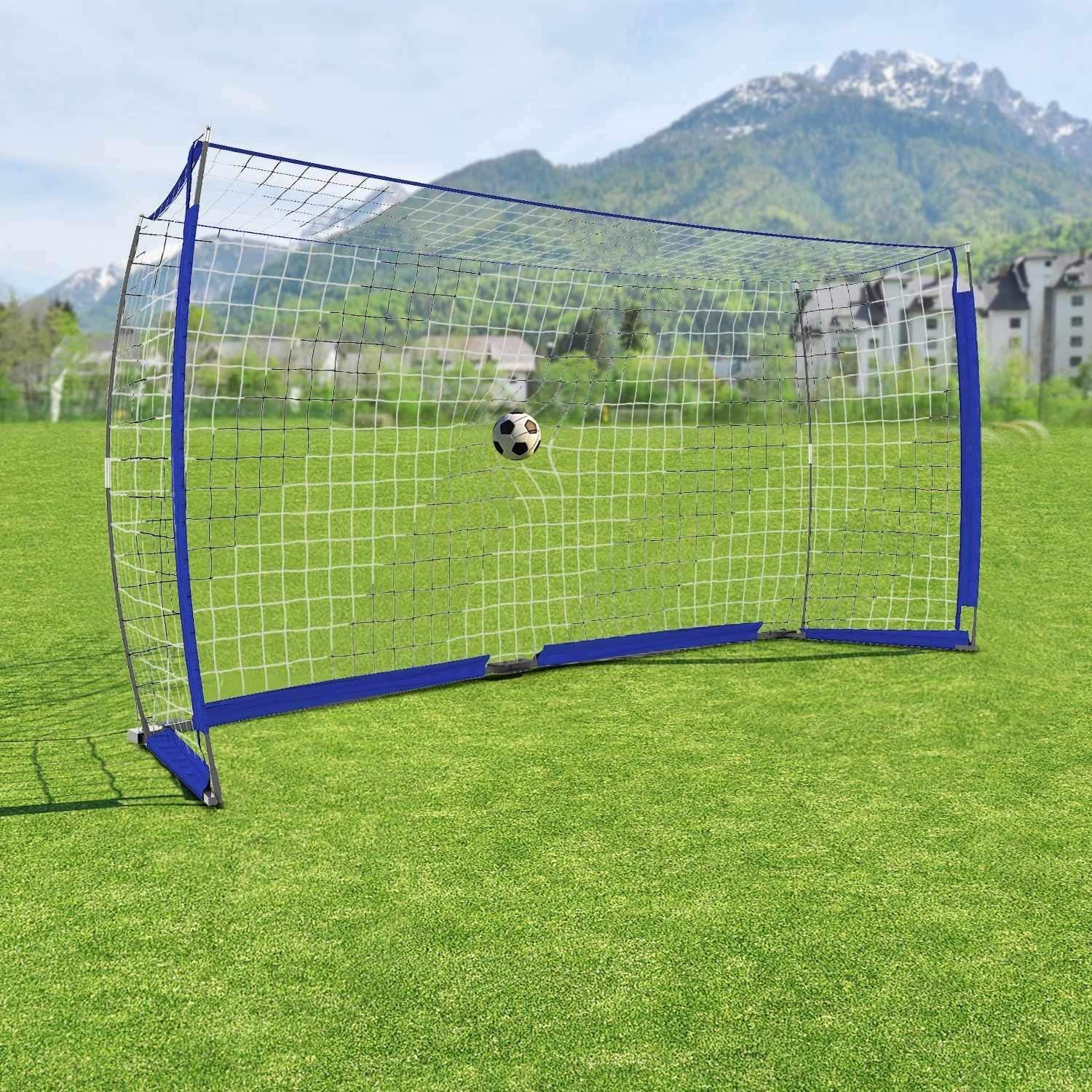 629f41563 Get Quotations · dtemple 12 x 6 ft Sports Foldable Portable Soccer Goal Net  with Bow Frame and Carry
