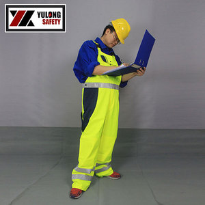 uniform winter workwear bib pants in electroplate