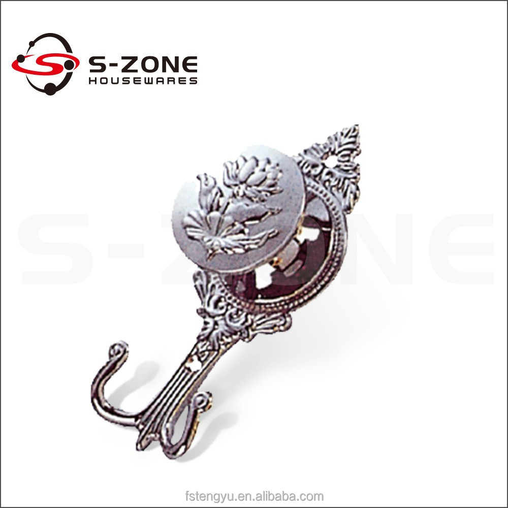 Decorative Metal Shower Curtain Hook
