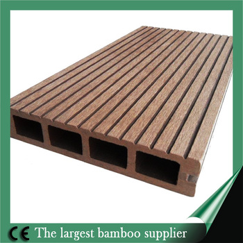 2014 best sale wpc composite decking solid bamboo material for Composite decking sale