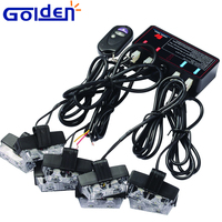 High power remote control hideaway emergency hazard warning led car strobe light kits