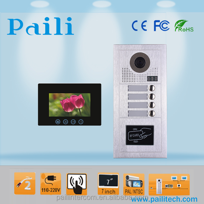 2 Wire Apartment Doorbell Entry System Video Door Phone Intercom View Paili Product Details From Guangzhou