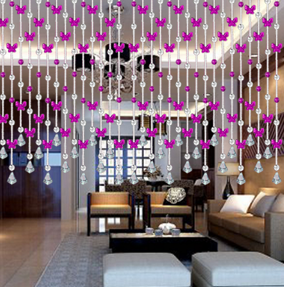 wedding beaded glass crystal curtain for beautiful home decoration