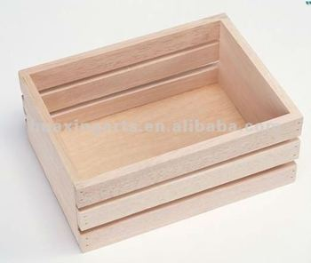 Unfinished wooden fruit crate wooden crates wholesale for Buy wooden fruit crates
