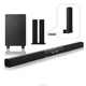 2017 hot selling tv sound bar with sub woofer system blue tooth radio music