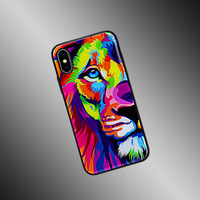 High-end new style lion pattern prevent scratch shockproof phone case for iphone X 8 7 6 6s